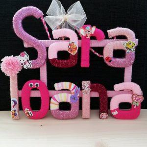 litere personalizate nume fetite