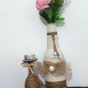 Vaza cu suport de lumanare