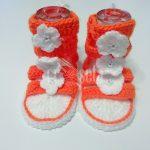Sandale croșetate manual pentru fetițe