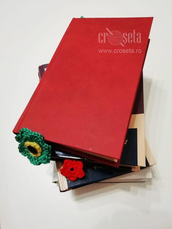 Semn de carte crosetat manual Floarea-Soarelui