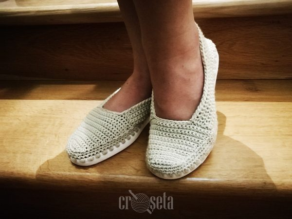 ANA - Espadrile crosetate manual