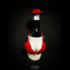 Husa handmade pentru Sticla de Bere 330 ml