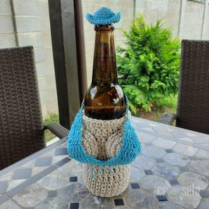 Husă handmade Sticlă Bere 500 ml