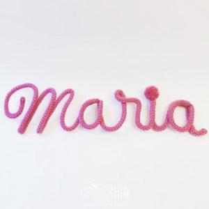 MARIA - Nume decorativ din șnur tricotat