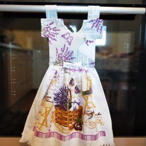 Prosop de bucatarie tip rochita - Imprimeu cu levantica