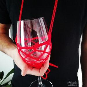 Suport-agatatoare pahar vin