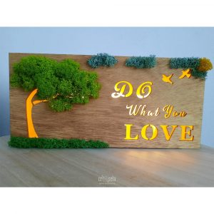 Casetă luminoasă din lemn - DO what you LOVE