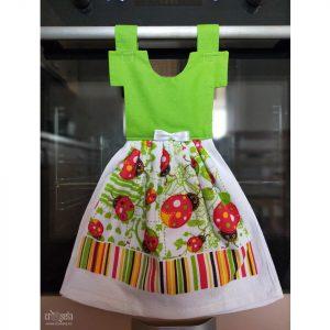 Prosop de bucatarie tip rochita - imprimeu cu buburuze