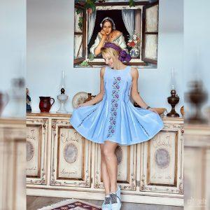 Rochie tradițională cusută manual - Model IRINA