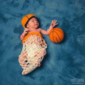 Costumaș bebe 0-3 luni - Set baschet