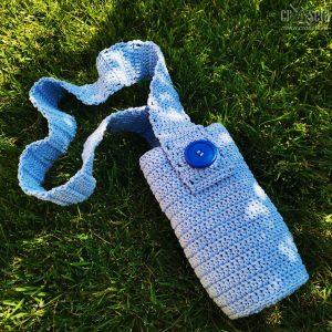 Husa albastra pentru sticla